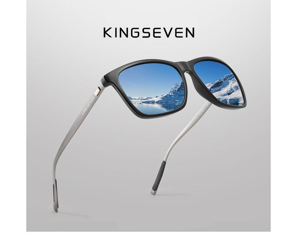 KINGSEVEN Brand Unisex Retro Aluminum+TR90 Sunglasses Polarized Lens Eyewear Accessories Sun Glasses For Men/Women