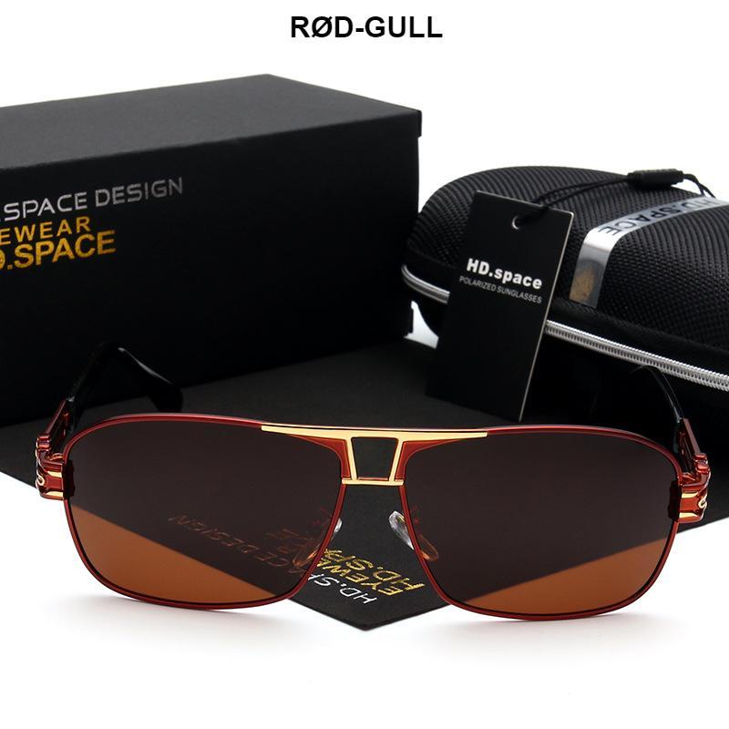 HD.SPACE Fashion Polarized Sunglasses Men Original Brand HD Polaroid Lens Driving Sunglasses Male Google Eyewear 2017