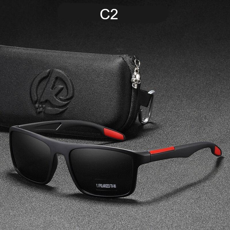 KDEAM Rectangular Ultra Light TR90 Sunglasses Men Polarized TAC 1.1mm Thickness Lens Driving Sun Glasses Women Sports Cat.3