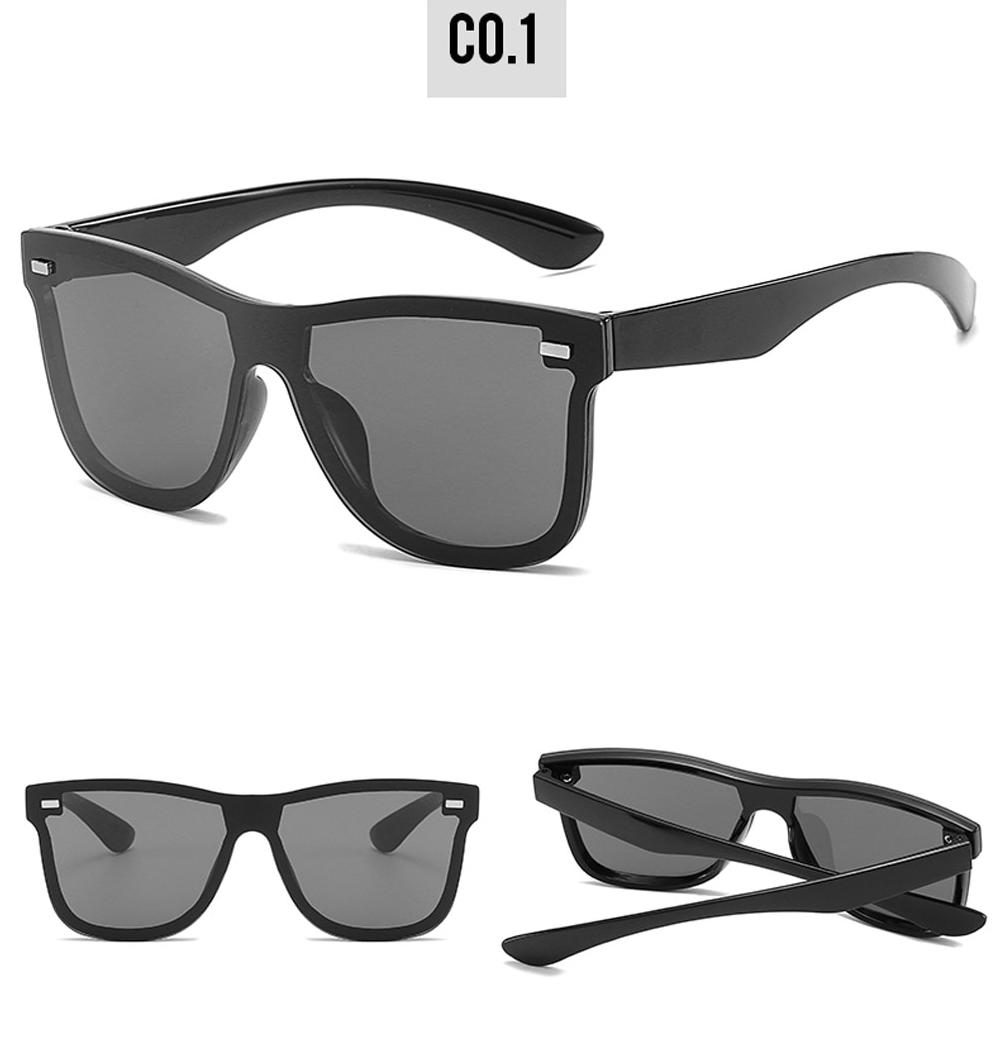 D&T New Fashion Sunglasses One piece Trend Personality Eyeglass Brand Design Protection Reflective Frameless Sunglassess UV400
